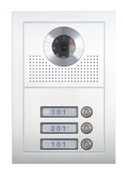 Oudoor station with 3 push buttons