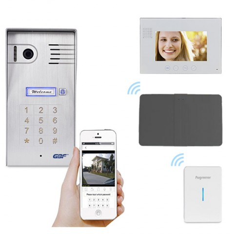 GBF-Four Wire Smart Intercom System with one indoor monitor(PL960QC4)