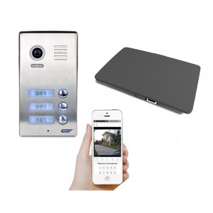 GBF 3 units apartment building smart intercom without door chime